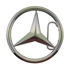 Mercedes Benz Car Belt Buckle Silver Metal Men Fashion Costume German Vehicle