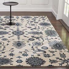 Brand Crate & Barrel 8 x 10 Juno White Wool Handmade Persian Style Rugs & Carpet