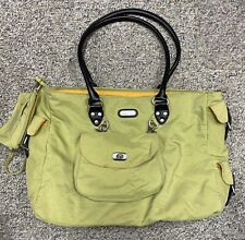 Baggallini Large Zipper Bag Green 3 In 1 Organizer Travel Weekender Purse Bag