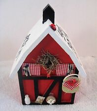 See Rock City Wooden Painted Fake Birdhouse 3D Signed  Look Out Mountain Country