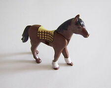 PLAYMOBIL (T3143) EQUESTRE - Cheval d'Equitation Marron avec Tapis de Selle 4191