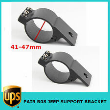 2pc Support Bracket Aluminum Off-road Jeep Vehicle Bull Bar Led Work Light 41-47
