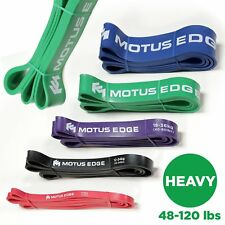 Motus Edge HEAVY Resistance Band – Fitness, Exercise, Rehab - GREEN (48-120 lbs)