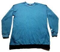 The North Face Womens Blue Long Sleeve Elastic Waist Shirt Size Large