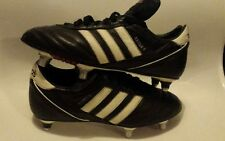ADIDAS BLACK LEATHER FOOTBALL BOOTS KAISER 5 CUP SOFT GROUND LEATHER UK  6.