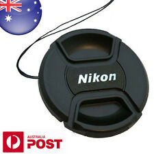 NIKON LENS CAP - 55mm Camera Snap-on Len Cap Cover with Cord - AUS POST Z044