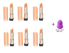 REVLON Colorburst Lip Butter, Creamsicle, 0.09 Ounce (6 Pack) + Makeup Sponge