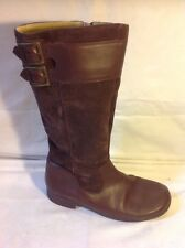 Start-Rite Brown Mid Calf Leather Boots Size 5G