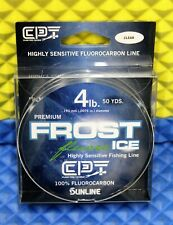 Clam Premium Frost Ice Fishing Line 100% Fluorocarbon 4 lb 50 YDS Clear 10972