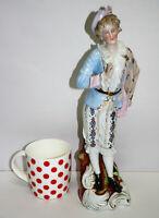 Antique 1900 Dresden Porcelain Young Gentleman Figurine Sculpture 14in tall