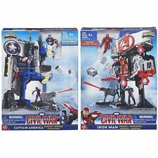 Marvel Avengers B5770 Captain America Bunker & Iron Man Armory Twin Pack