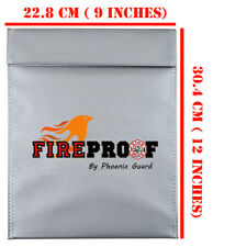 Fire proof pouch Document Money safe bag Fire Water Resistant material 9'' x 12