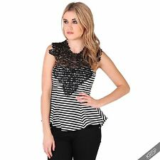 Hip Length Party Fitted Striped Tops & Shirts for Women