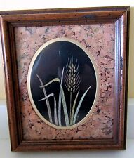 #2 Vintage Sharon Wald Scratchboard Etching Framed~Matted/Cork~Signed~RARE