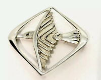 Vintage Early 1966 Scottish Silver Ola Gorie Odins Bird Viking Brooch GIFT BOXED