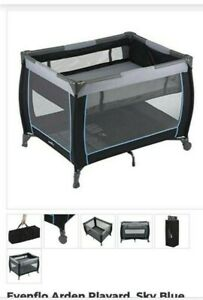 EVENFLO ARENA FOUR IN ONE BABY SUITE PLAYARD 70812110 PLAY PEN NAPPER BASSINET +