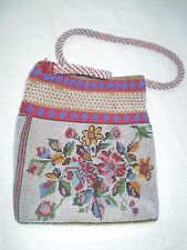 RARE ANTIQUE OTTOMAN   ANTIQUE-GLASS-BEADS-BEADED-BEADWORK-LADYS-PURSE