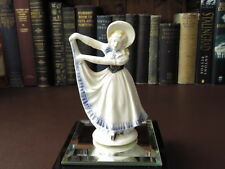 Antique Late 19th/Early 20th c Porcelain Dancing Girl Figurine