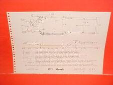 1973 CHEVROLET IMPALA CAPRICE BELAIR STATION WAGONS VEGA FRAME DIMENSION CHART