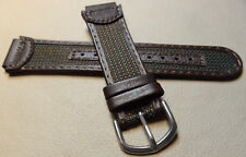 Timex T77862 Water Resistant Leather 18mm Expedition Watch Band Brown & Green