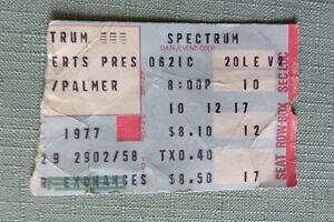 1977 Emerson Lake Palmer Ticket Stub Philadelphia Spectrum June 21 1977