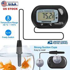 LCD Digital Fish Tank Aquarium Marine Water Thermometer Temperature +Suction Cup