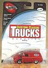 2002 Hot Wheels 100% Custom Classic Trucks Magazine 4/4 56 FORD Red w/RealRider