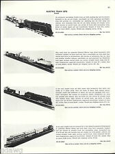 1956 ADVERT Marx Toy Electric Train Sets Die Cast GM Locomotive Freight