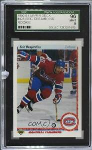 1990-91 Upper Deck Eric Desjardins #428 SGC 9 Rookie