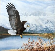 "Charles Fracé ""Wings Over America""  Bald Eagle aloft, mountains  LTD ED  S/N COA"