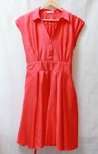 Robe couleur corail style rétro t. 38