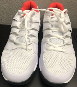NIB Nike Air Zoom Vapor X HC White Black Crimson Tennis Shoe Size 9 Wide
