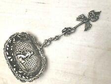 Dutch Old World themed fancy serving spoon, 800 fine silver