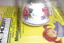 Kahlert-Licht 10507, Puppenstube Hängelampe Keramik mit Blumenmuster, OVP, Neu