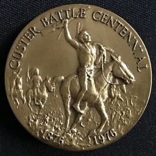 1876-1976 Custer's Last Stand Little Bighorn Battle Centennial Bronze Medallion