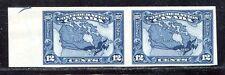 Canada Kanada 1927 Landkarte Map 122 Paar Ungezähnt Imperf MNH