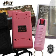 Jolt 46,000,000 Volt Mini STUN GUN and Police Magnum PEPPER SPRAY Combo Set Pink