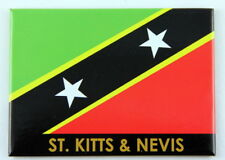 "ST.KITTS & NEVIS FLAG CARIBBEAN FRIDGE COLLECTOR'S SOUVENIR MAGNET 2.5"" X 3.5"""