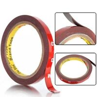3M x 10MM AUTO ACRYLIC FOAM DOUBLE SIDED ATTACHMENT ADHESIVE TAPE UK SELLER