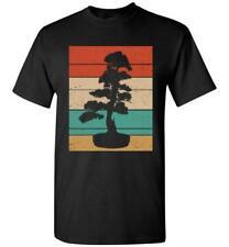 Japanese Art Bonsai Tree Sun T-Shirt Vintage Retro Bonsai Life Unisex Tee Gifts