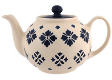 Blue and White Moroccan Design Ceramic Teapot / Tea Pot - BNWT