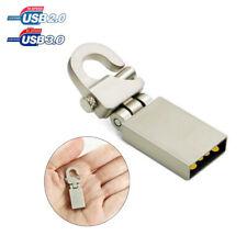 64GB 32GB Metal Rotary Keychain USB 3.0/2.0 Flash Drives Data Storage Stick Disk
