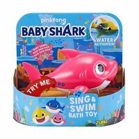 Robo Alive BABY SHARK Sing & Swim Bath TOY Water Activated PINK Pinkfong