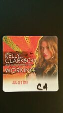 Kelly Clarkson 7/24/2009. Backstage Pass  Working MAKE AN OFFER!