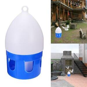 6L Pet Bird Water Drinker Feeder Pigeon Handle Plastic Pot Dispenser Container