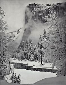 1959 Vintage ANSEL ADAMS El Capitan Winter Yosemite Landscape Photo Art 12X16