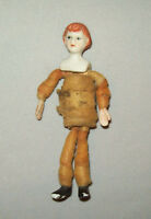 """Old Antique Vtg Early 1900s Bisque Dollhouse Doll 4.5"""" Tall China Figure Nice"""