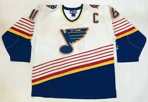 Vintage Starter St. Louis Blues HULL #16 NHL Hockey Jersey White Adult XL Sewn