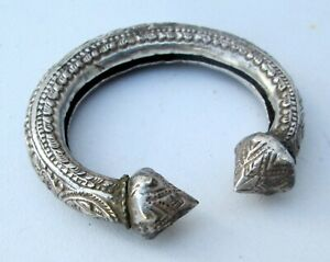 SUPER RARE! Antique Shan Hill Tribe Unisex Silver Adjustable Bracelet HANDMADE