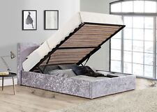 Birlea Berlin Steel Grey Velvet Ottoman Storage Bed Single 3ft 90cm Frame